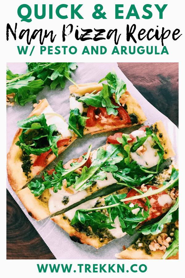 Naan Pizza recipe with Pesto