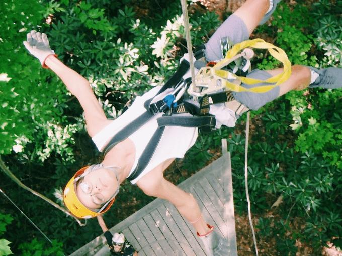 ziplining in asheville