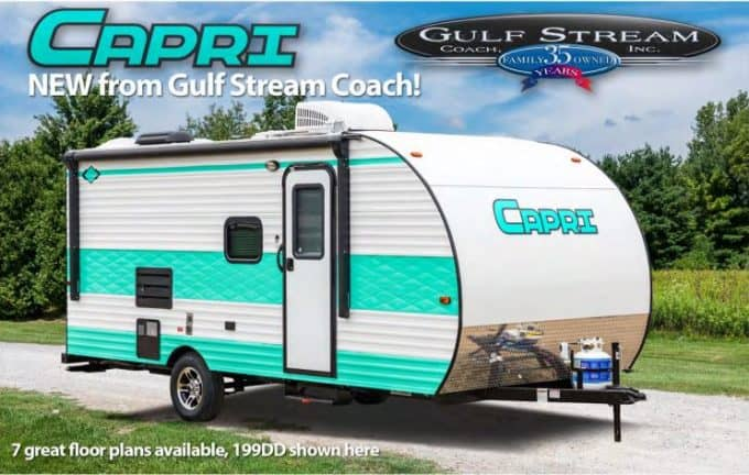 The Gulf Stream Capri is the perfect retro camper