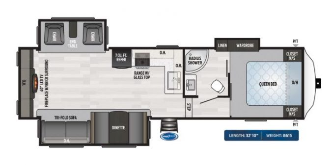 small 5th wheel camper floorplan