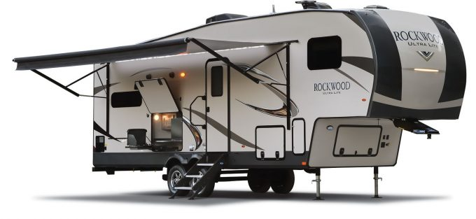 small 5th wheel trailer from Rockwood