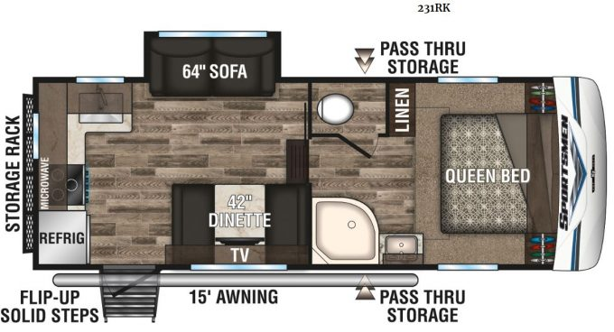 small 5th wheel trailer floor plan