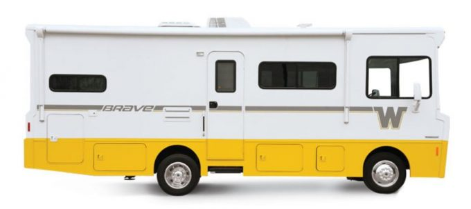 The Winnebago Brave is a classic retro camper