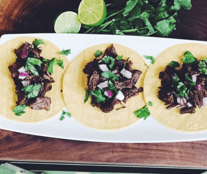 Instant Pot Shredded Beef Tacos