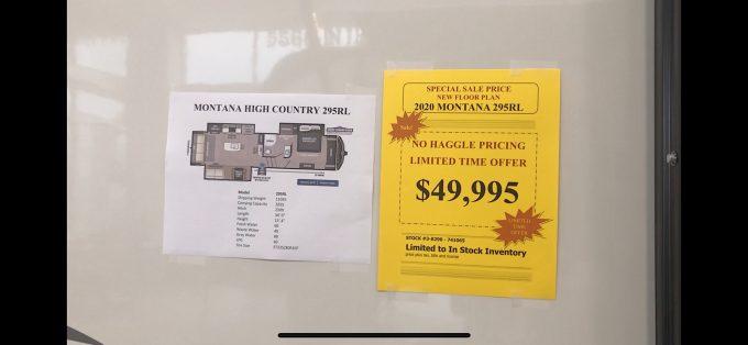 2020 Keystone Montana High Country 295rl