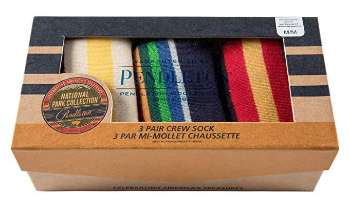 Pendleton Men's 3-pack National Park Socks Gift Box