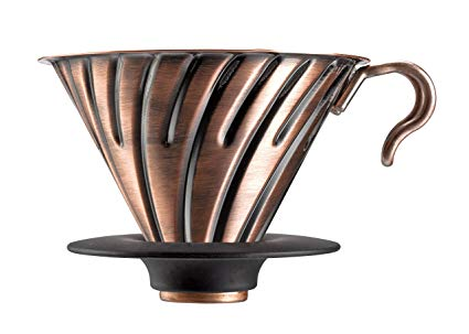 Pour-Over Coffee - Hario V60 Metal Coffee Dripper