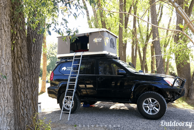 Truck camper rental Yellowstone