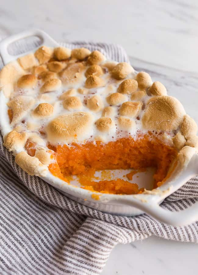 Sweet Potato Casserole with Marshmallows - Small Batch