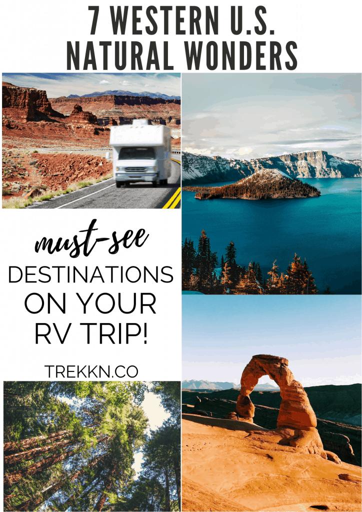 RV Trip Bucket List of Natural Wonders