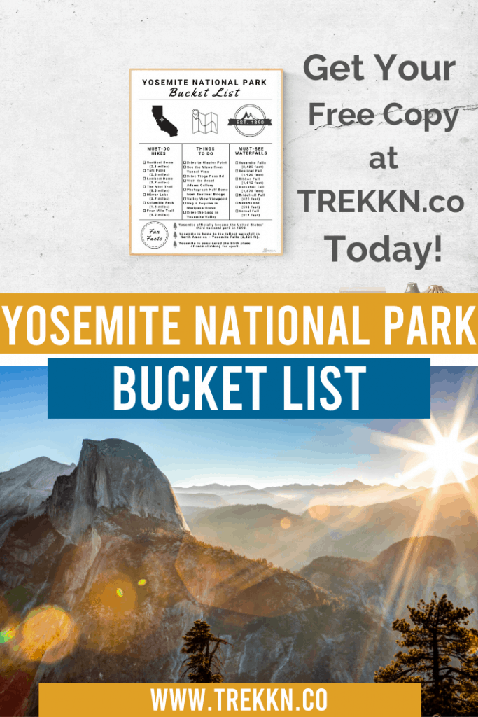 Yosemite National Park Checklist