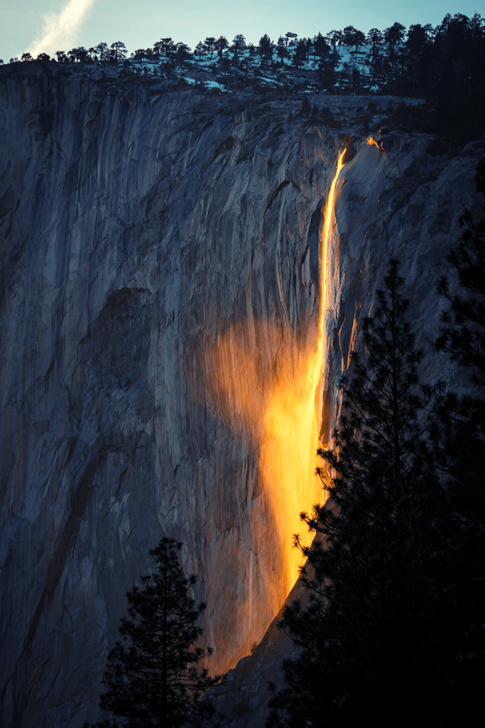Horsetail Fall in Yosemite National Park