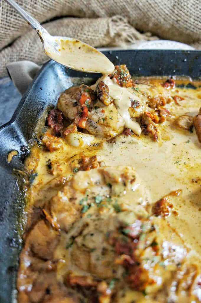 Creamy Garlic Chicken Thighs Recipe