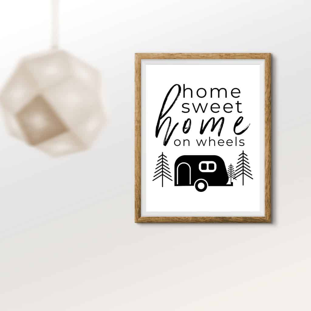 RV Printable Wall Decor Home Sweet Home On Wheels