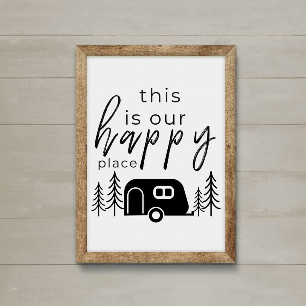 Printable RV Wall Decor This Is Our Happy Place