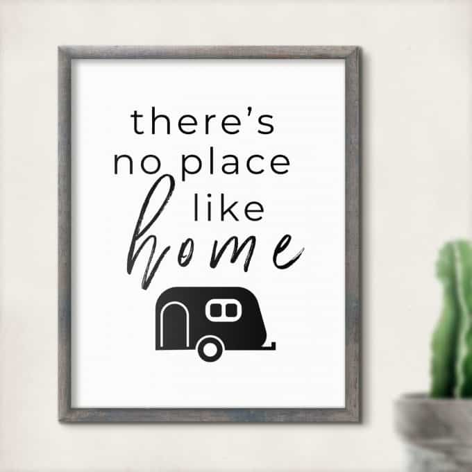 Printable RV Decor There's No Place Like Home