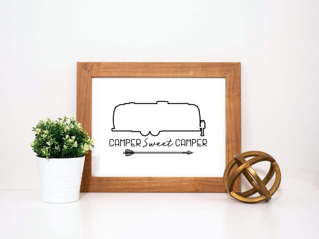 Camper Sweet Camper Printable for Airstreams