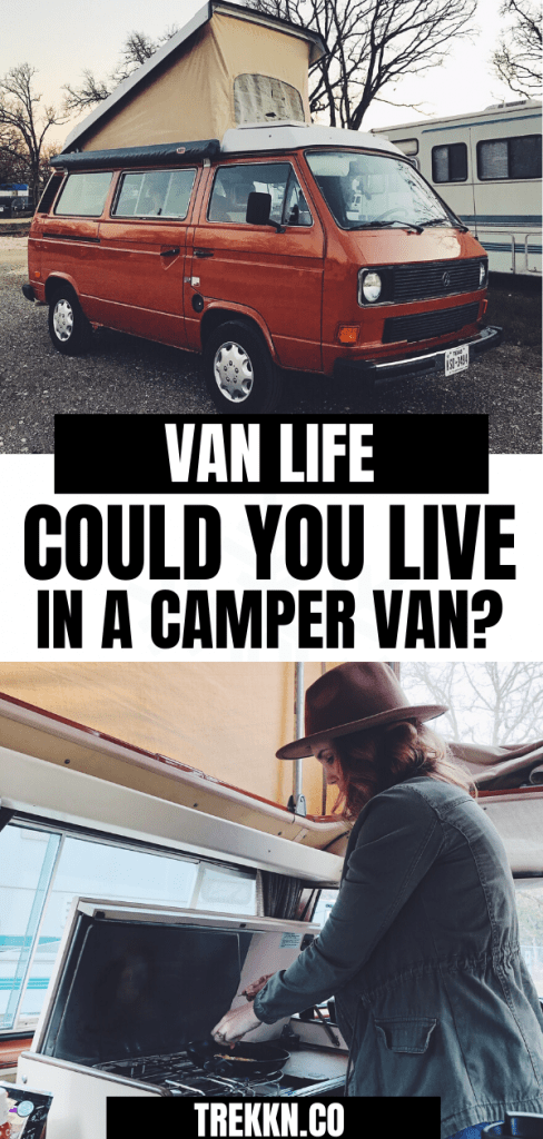 Could you live full-time in a camper van?