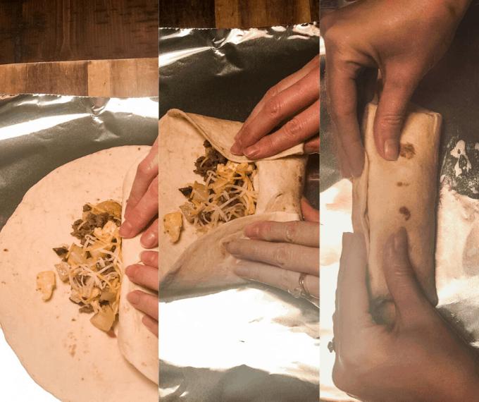 how to make make ahead camping breakfast burritos