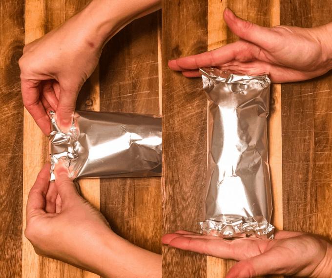 how to fold make ahead camping breakfast burritos