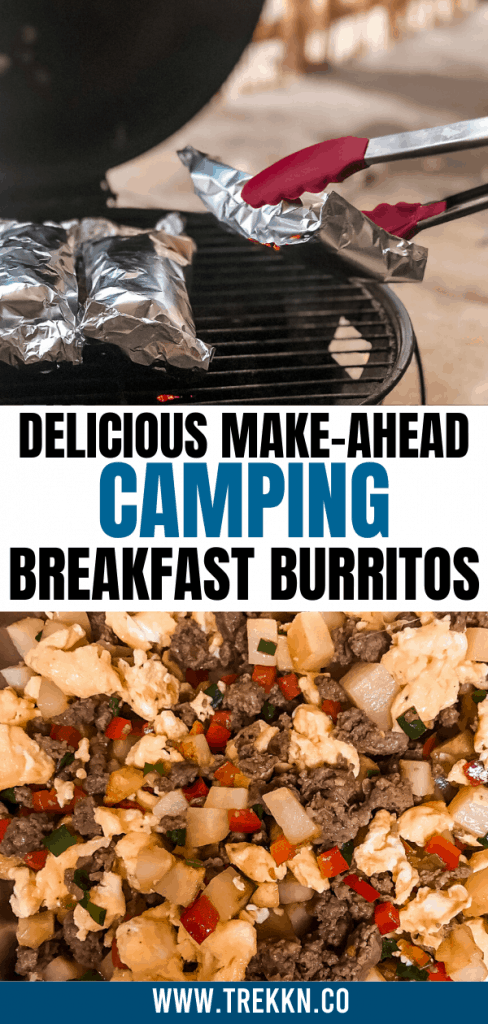 How to make camping breakfast burritos