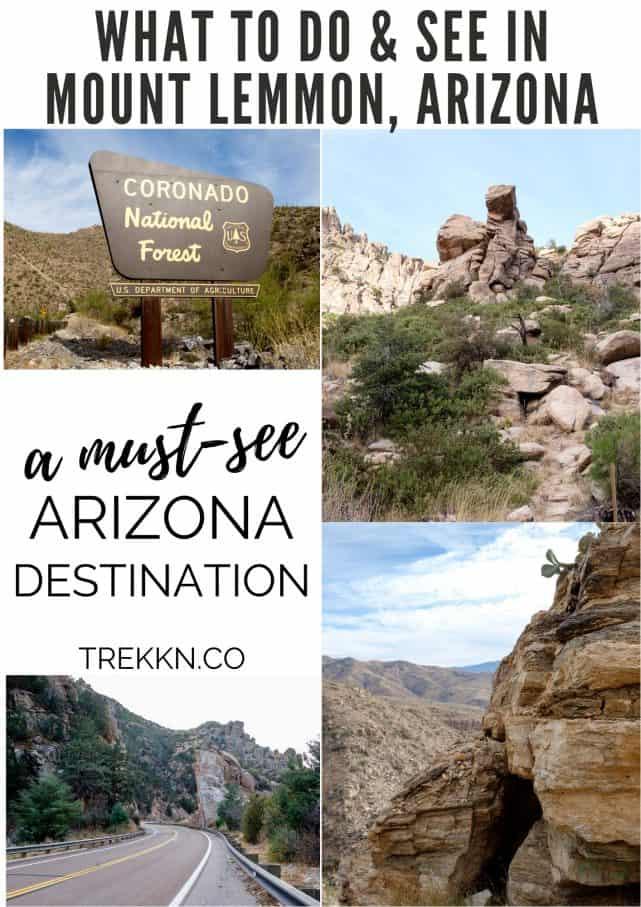 Things to do in Mount Lemmon Arizona
