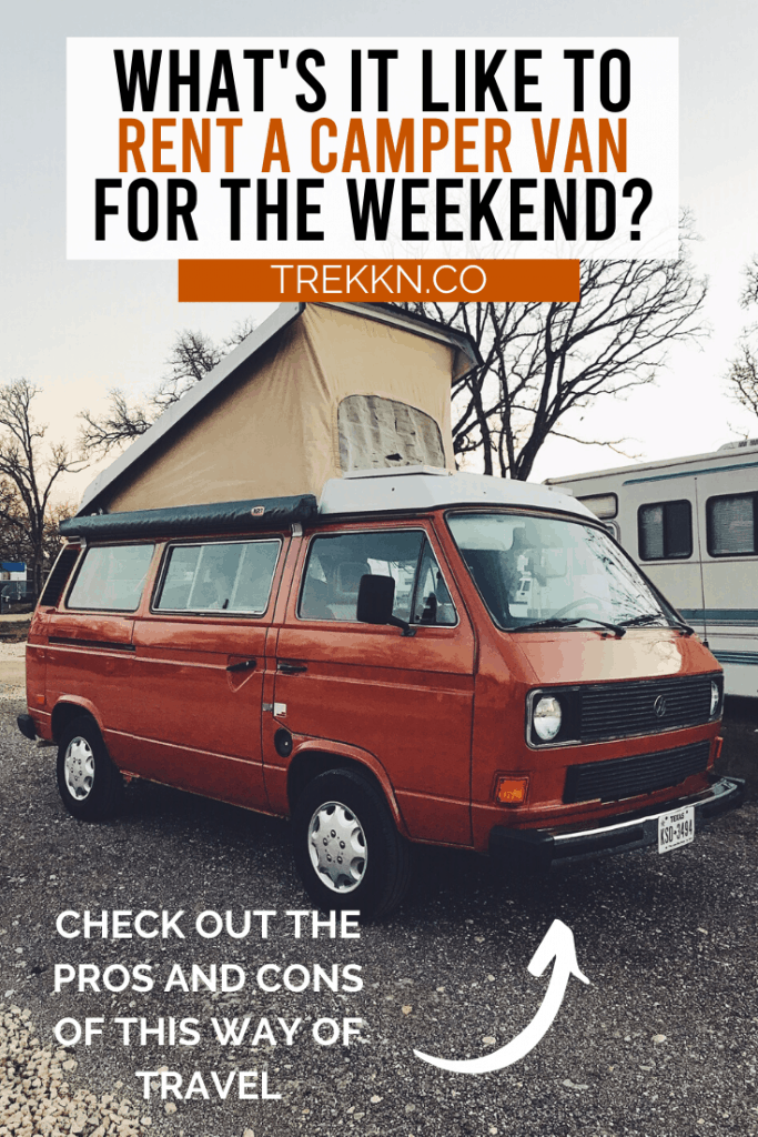 Renting a Camper van for the Weekend
