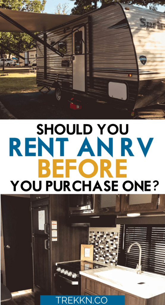 Should you rent an RV before buying one?