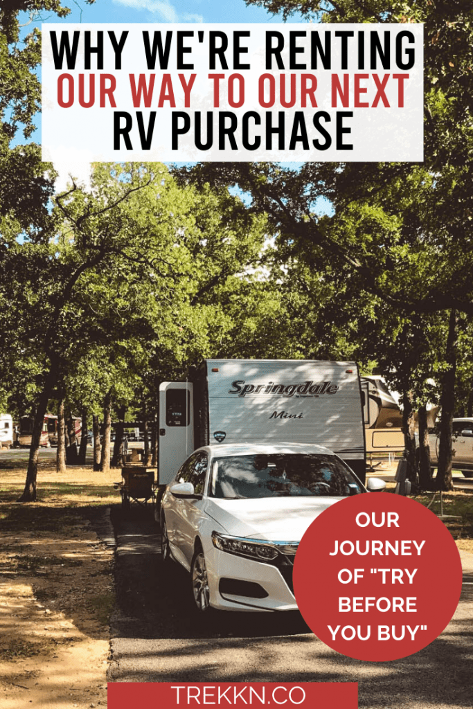 Renting an RV Before Buying