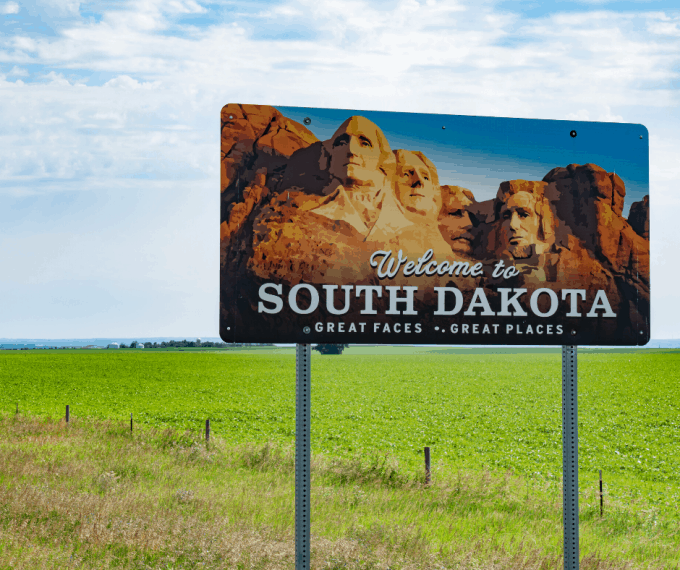 Sign Welcoming Visitor's to South Dakota