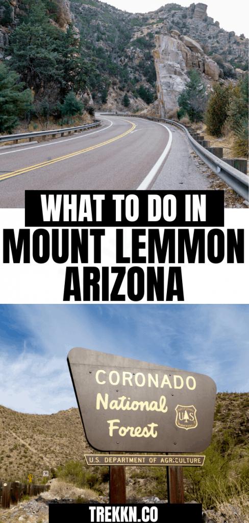 What to do in Mount Lemmon Arizona