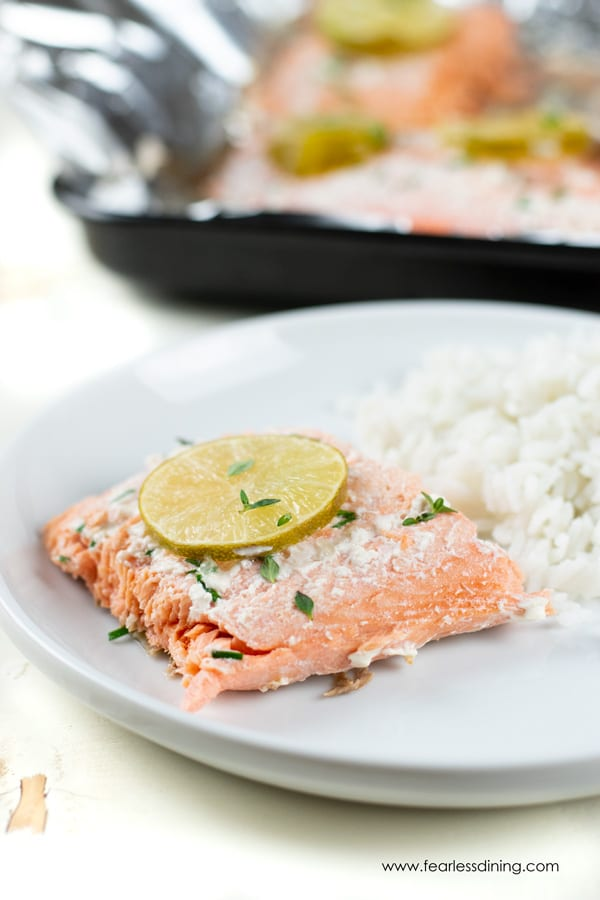 Foil Packet Grilled Coho Salmon