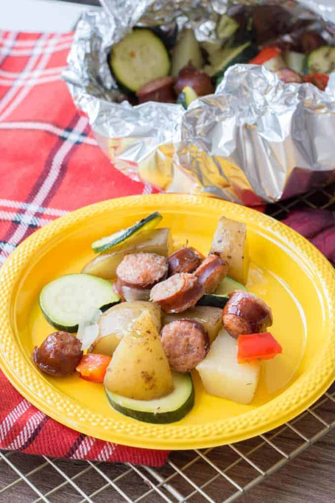 Sausage Foil Packets for camping