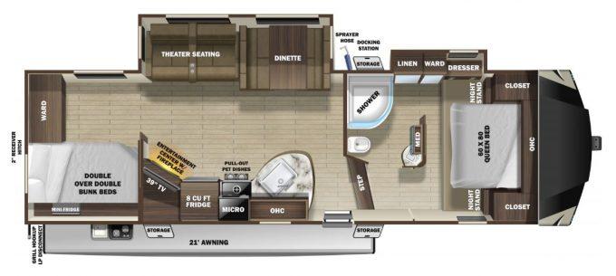 Silverstar Limited Fifth Wheel Floorplan