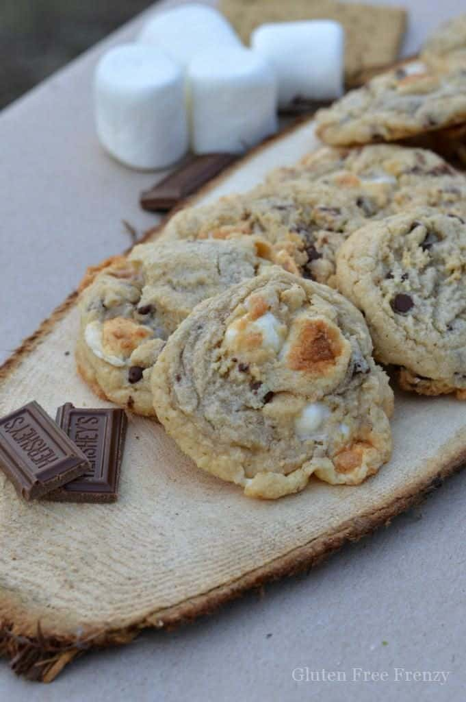 Ooey Gooey S'mores Cookies