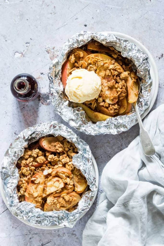 Campfire Apple Crisp Foil Packets