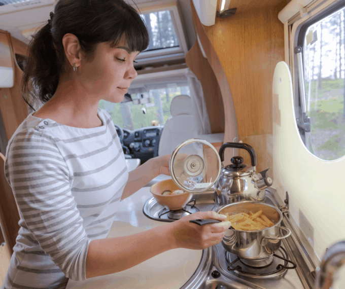 cooking meals in rv