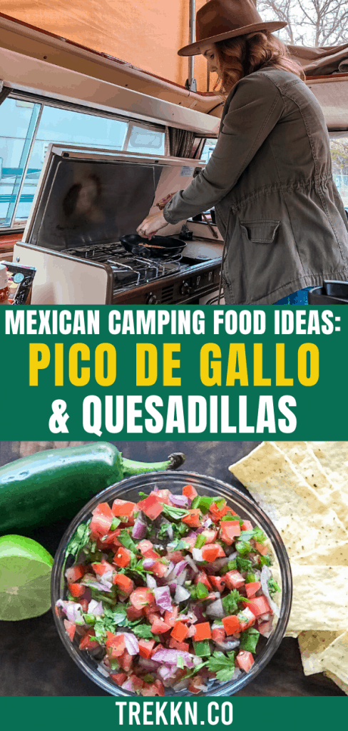 mexican camping food idea pico de gallo