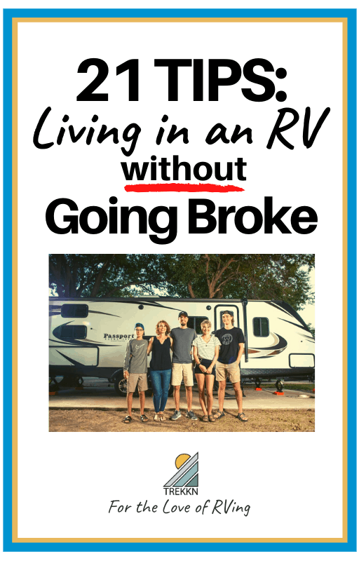 How to live in an RV on a budget