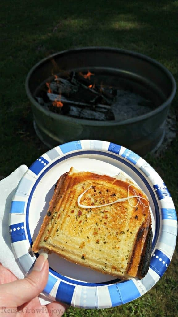 Grilled Cheese Pie Iron Recipe