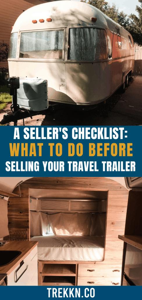 Seller's Checklist for Travel Trailer