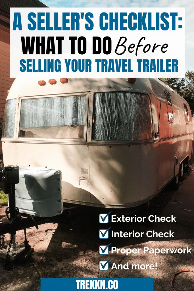 Travel Trailer Seller's Checklist