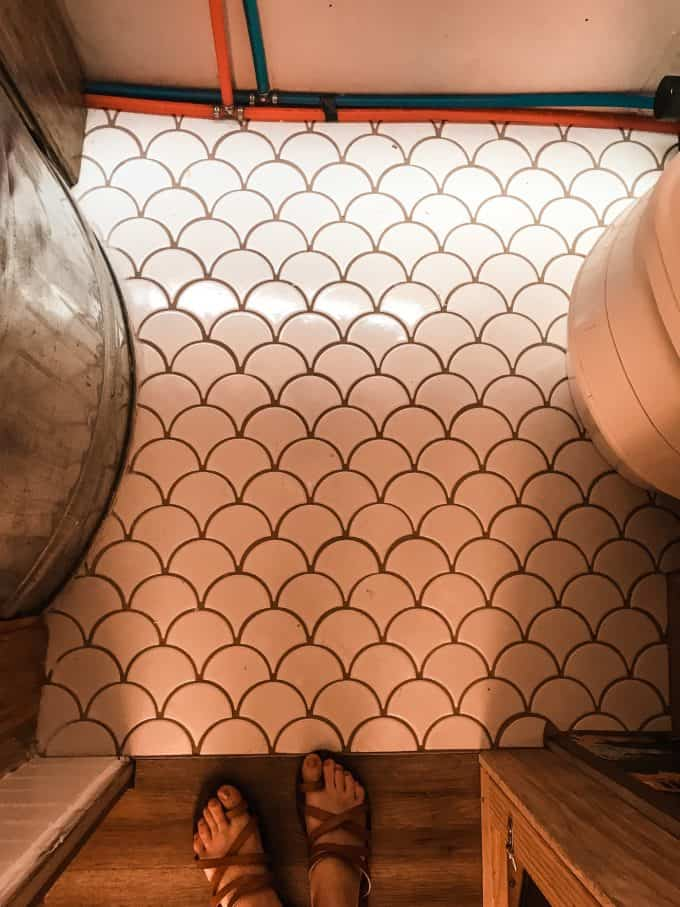 Travel Trailer Bathroom in Airstream