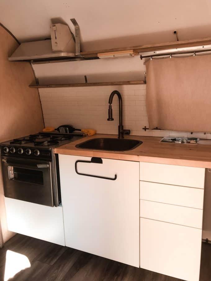 Airstream Travel Trailer Kitchen