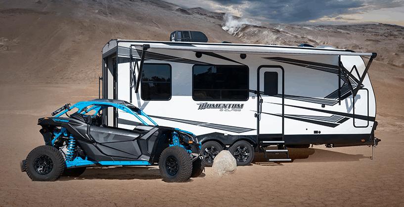 toy hauler travel trailer 2020