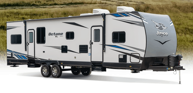 toy hauler travel trailers by Jayco