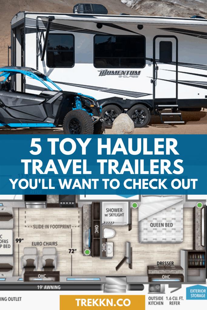 Toy Hauler Travel Trailers 2020