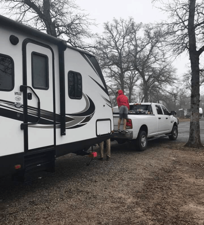 Travel trailer set up and tear down list