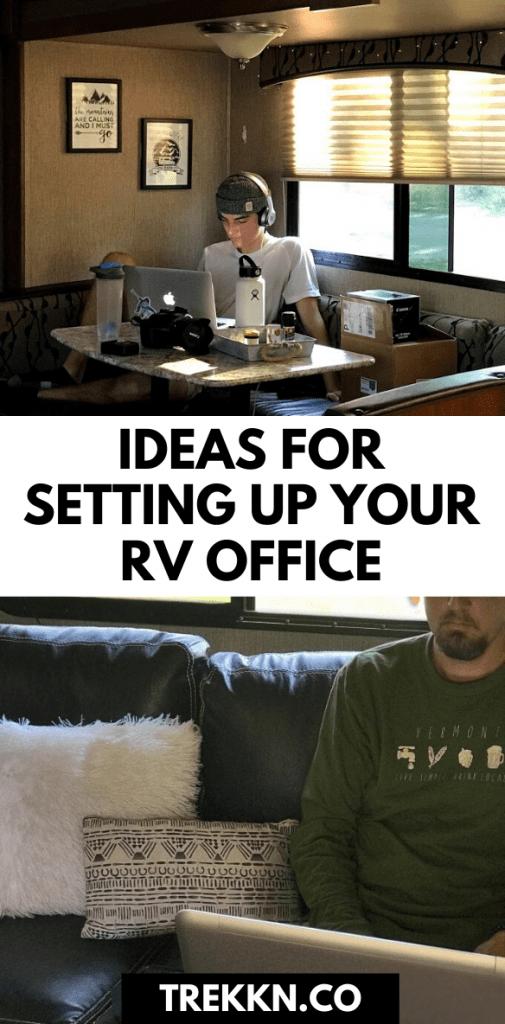 RV office set up ideas
