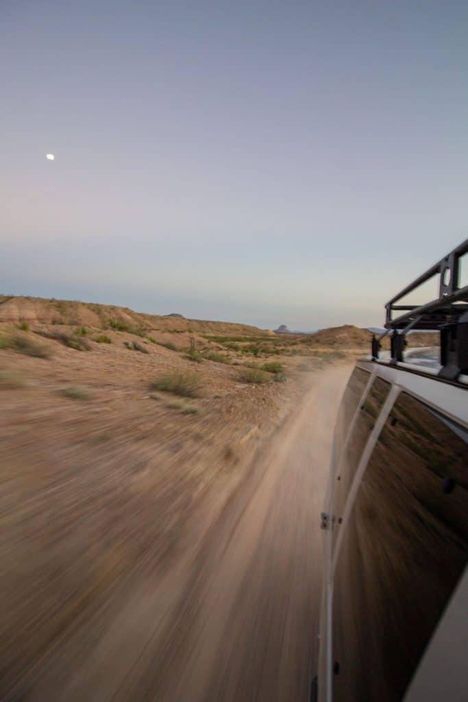 Campervan in Big bend National Park